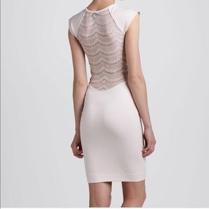 FCUK pink lace back dress